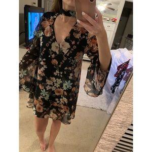 Floral Choker Dress